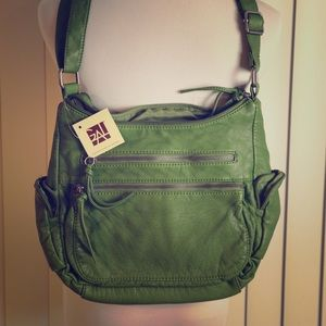 NWT green leather purse